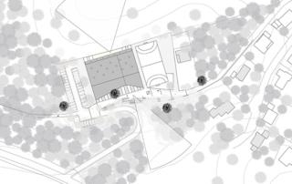 Perspektive, Lageplan der Sporthalle in Oberflockenbach