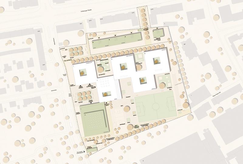 Lageplan der Kreuzschule in Regensburg