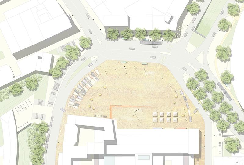 Beitrag zum Realisierungswettbewerb – Platz am Kulturbahnhof Kassel