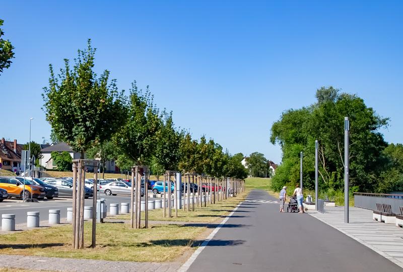 Radweg Promenade Juni 2019