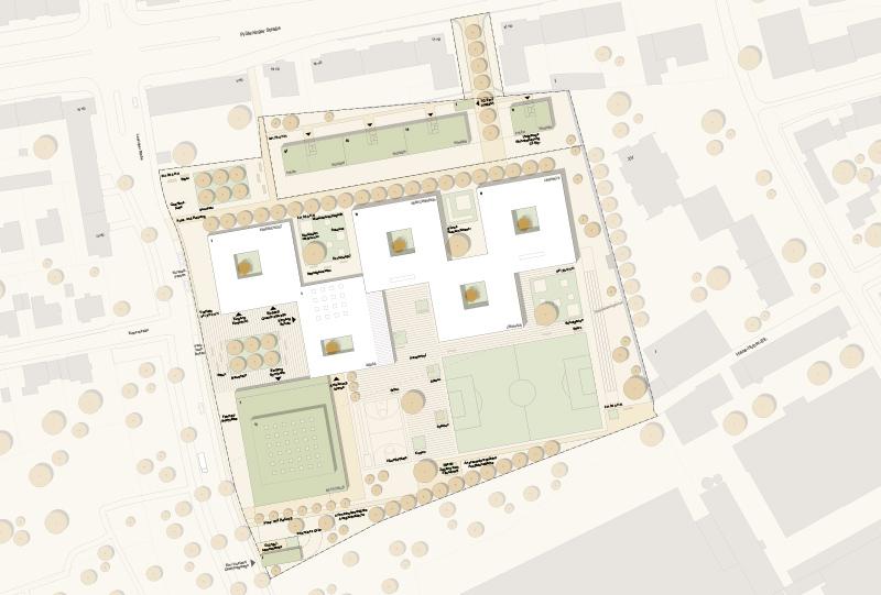 Konzept zum Neubau der Kreuzschule in Regensburg