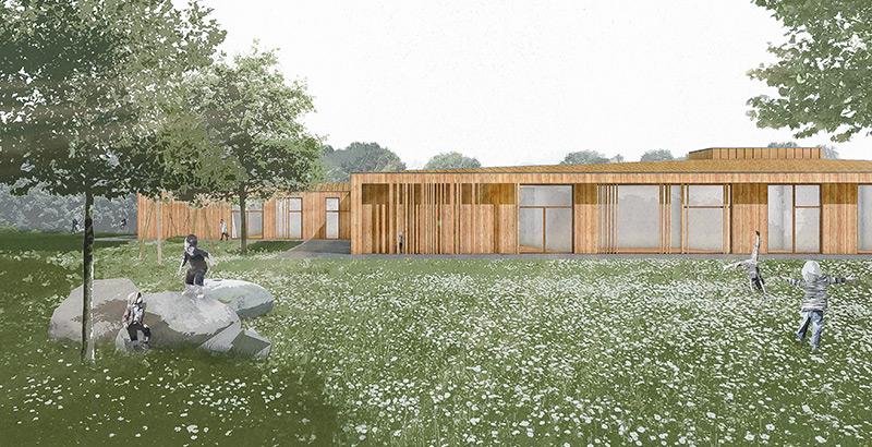 Erster Preis beim Realisierungswettbewerb zum Neubau der Kita am Kurmainzer Ring, Sulzbach am Main
